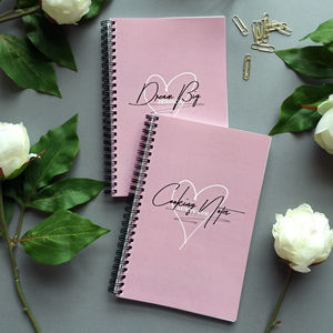 Dusty Pink Personalised Notebook