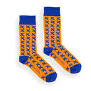Children Orange And Blue X Socks