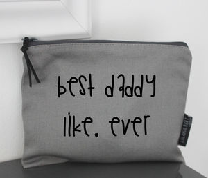 'Best Daddy' Pouch - summer sale
