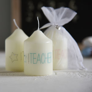 'Special Teacher' Candle In Organza Bag - gifts for teachers