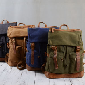 Two Front Pockets Backpack - new in fashion