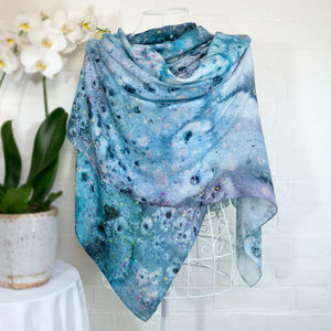'Metamorphic Salts' Large Luxury Scarf Wrap