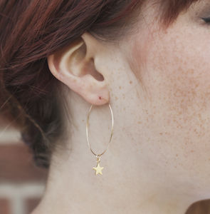 Tiny Star Hoop Earrings