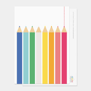 Coloured Pencils Postcard - shop by category