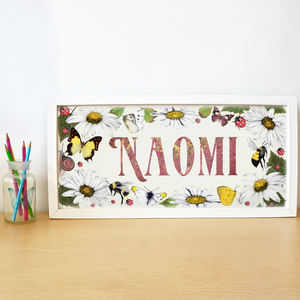 Personalised Nature Garden Name Picture - children's pictures & paintings