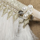 Ivory Ostrich Feather Capelet