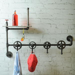industrial vintage bicycle parts coat hook rack - Funky Coat Racks