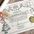 North Pole Certificate For Baby's First Christmas