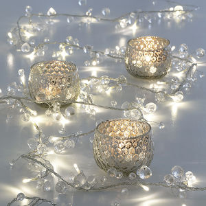 Clear Crystal Ball Fairy Lights Mains Or Battery - christmas decorations