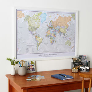 Personalised Classic World Map - maps & locations