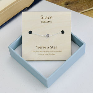 'You're A Star' Personalised Sterling Silver Bracelet - women's jewellery