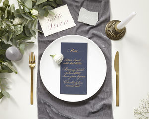 Velvet Table Runner - mystical decadence wedding trend