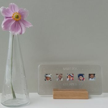 Personalised Landscape Glass Photograph Display Frame