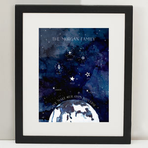 Personalised Universe Family Print