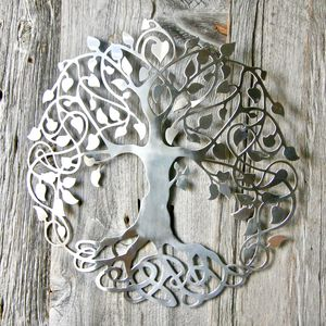 Silver Tree Of Life Wall Art
