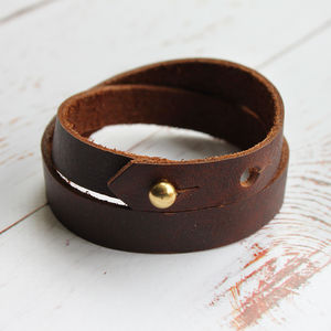Leather Wrap Bracelet - bracelets & bangles
