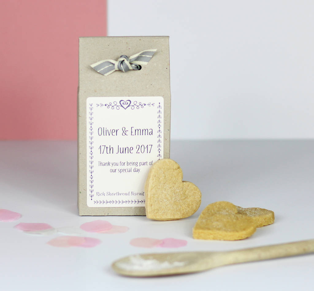personalised shortbread baking mix wedding favours by katie bakes ...