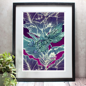Dragonfly Lily Limited Edition Fine Art Giclée Print