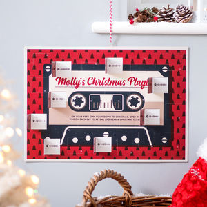 Personalised Christmas Playlist Advent Calendar - advent calendars