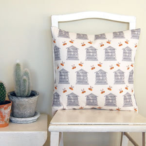 Small Square Beehive Cushion - living room