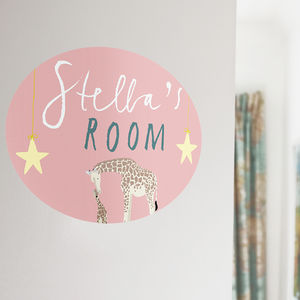 Personalised Children's Room Sign - wall stickers