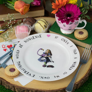 Alice In Wonderland Flamingo Fine Bone China Tea Plate - alice in wonderland gifts