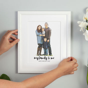 Personalised Family Line Portrait