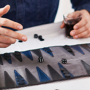 Personalised Leather Backgammon Set - gifts for him
