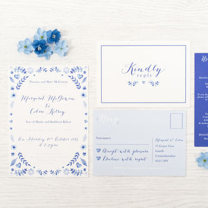 'True Blue' Wedding Invitation - invitations