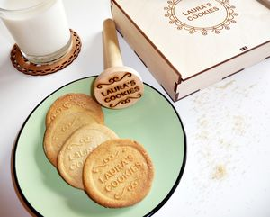 Personalised Wooden Cookie Stamp - kitchen