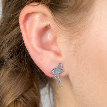 Flamingo Stainless Steel Earrings