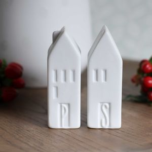Fine Porcelain Salt And Pepper Dispensers