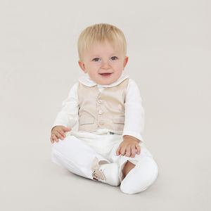 Boys Designer Silk Waistcoat Three Piece Set - new in baby & child