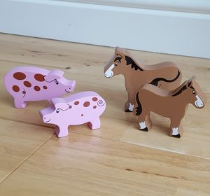 Wooden Farm Animals - traditional toys & games