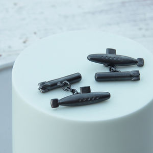 Submarine And Torpedo Cufflinks - men's accessories