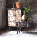 Vintage Style Luggage Trunk Side Table