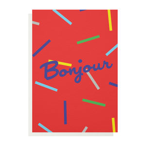 Bonjour Greetings Card - all purpose cards