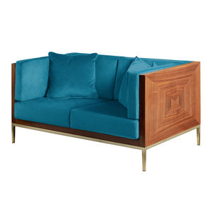 1950s Italian Luxe Velvet Two Seater Sofa - furniture