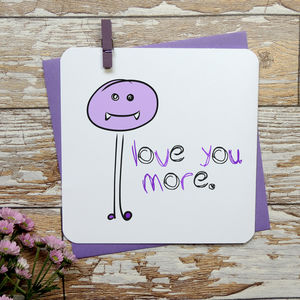 'Love You More' Romantic Anniversary Card - shop by category