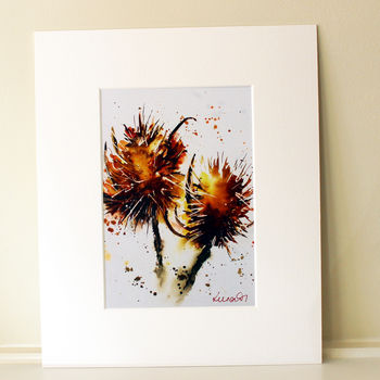 Countryside Print, Teasels Two