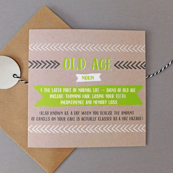 Funny Old Age Card