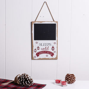 Sleeps Until Christmas Plaque - christmas decorations