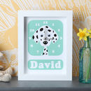 Personalised Dalmatian Clock