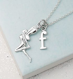 Silver Fairy Necklace With Personalised Message