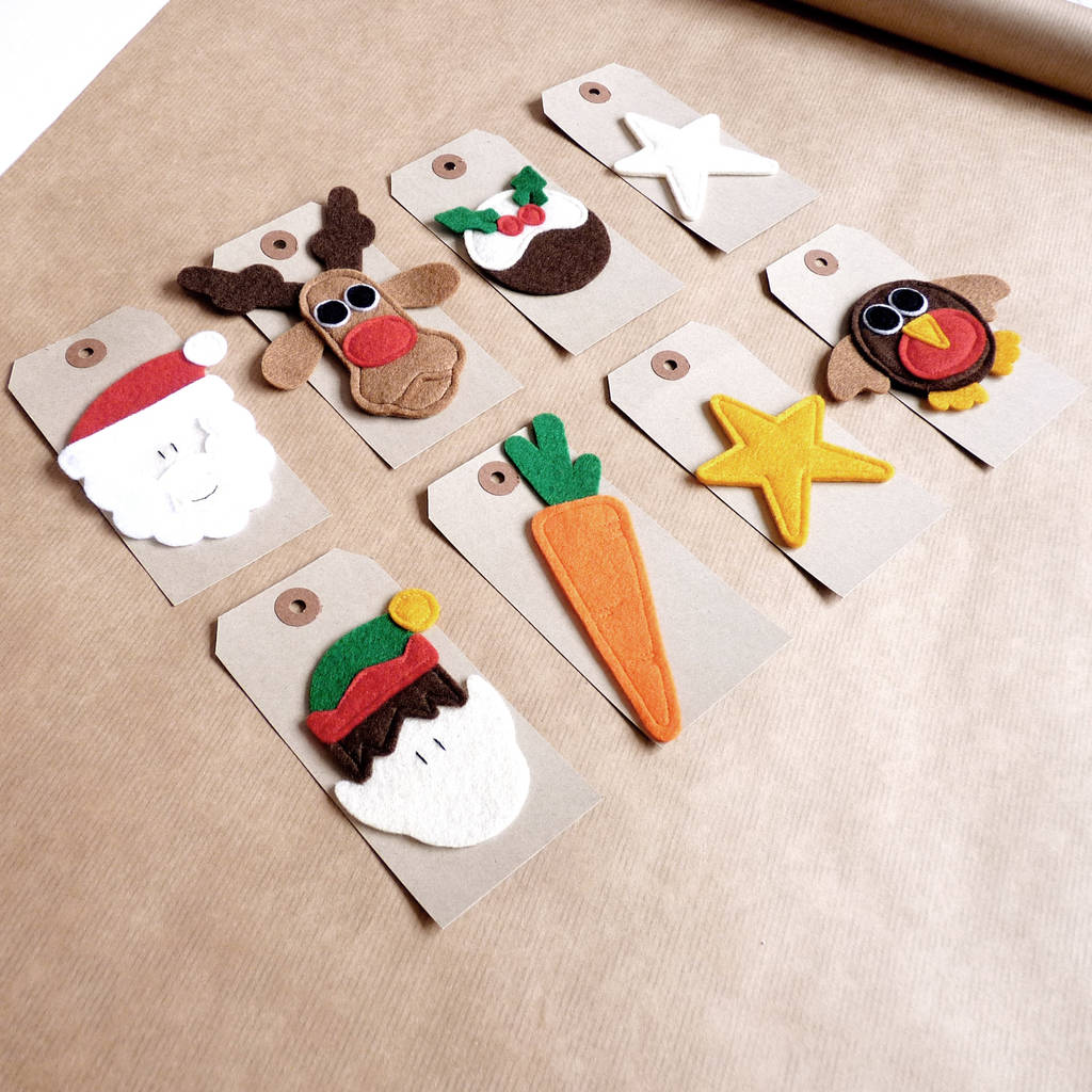 Christmas Gift Tags Handmade.Christmas Gift Tag With Handmade Felt Design