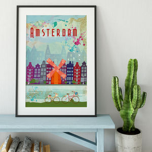Amsterdam, The Netherlands, Cityscape Art Print