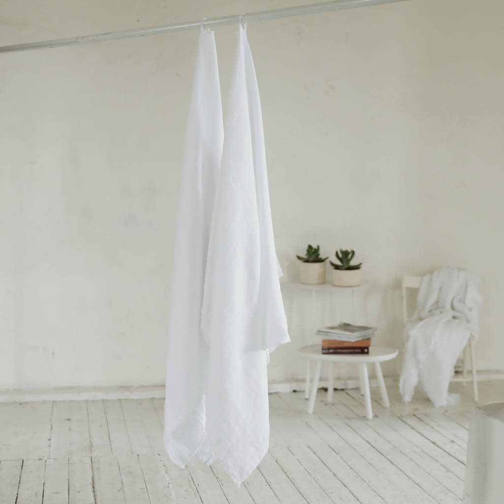 Linen Waffle Bath Towel Washed By Linenme Notonthehighstreet Com