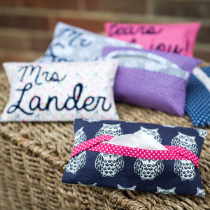 Personalised Pocket Tissue Case For Teachers