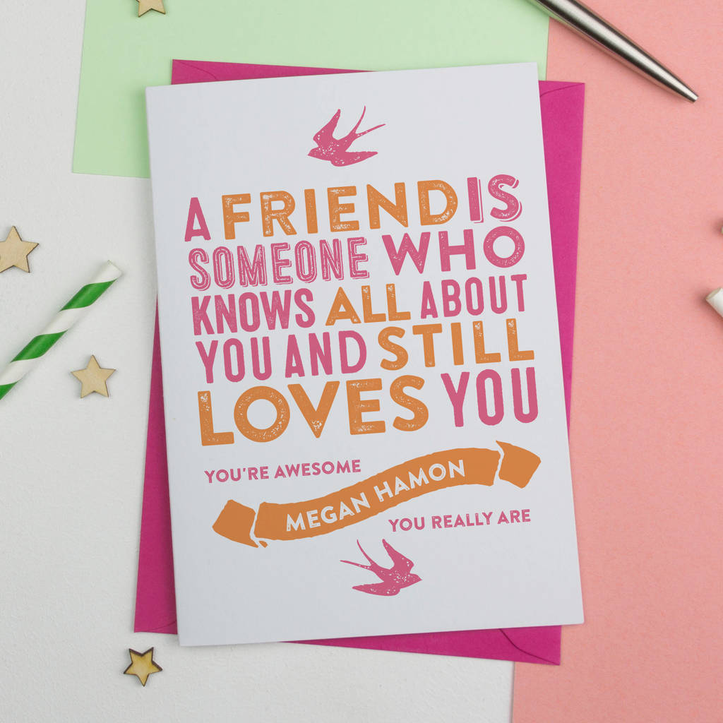 Best Friend Birthday Cards | Friendship Cards | notonthehighstreet.com