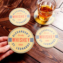 Set Of Four Retro Style Personalised Beer Mats
